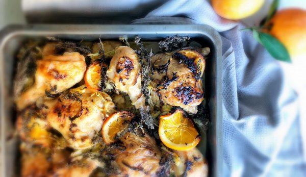 Kοτόπουλο με Φινόκιο, Γαλλικές Baby Πατατούλες & Πορτοκάλι