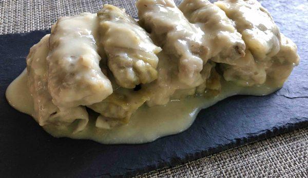 λαχανοντολμάδες με κρέμα αυγολέμονο