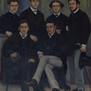 Χαρά Βιέννα, Ιδρυτές του Παρνασσού και άλλα μέλη, λάδι σε καμβά