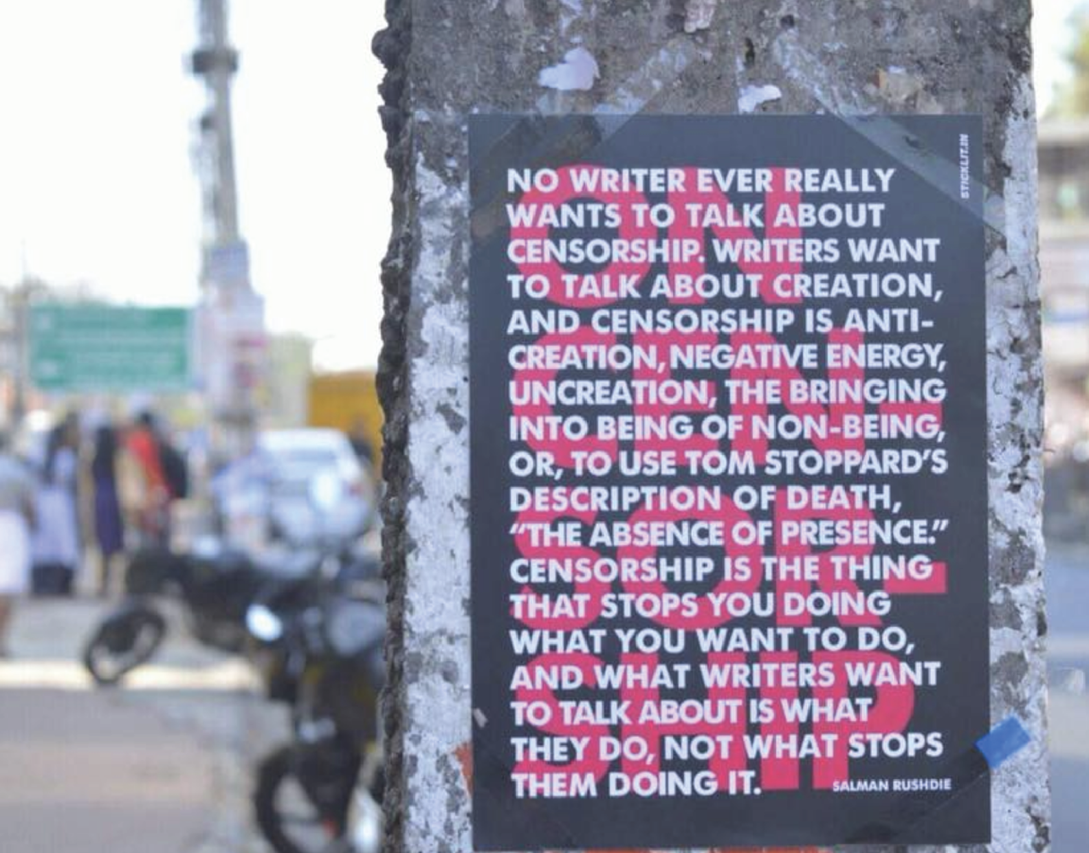 #StickLit μια βιβλιοθήκη διάσπαρτη στους δημόσιους χώρους της Ινδίας