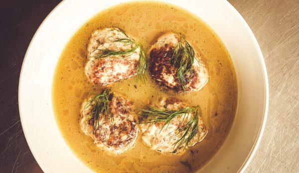 Σούπα από Γιουβαρλάκια Κοτόπουλο με Κρέμα Lime