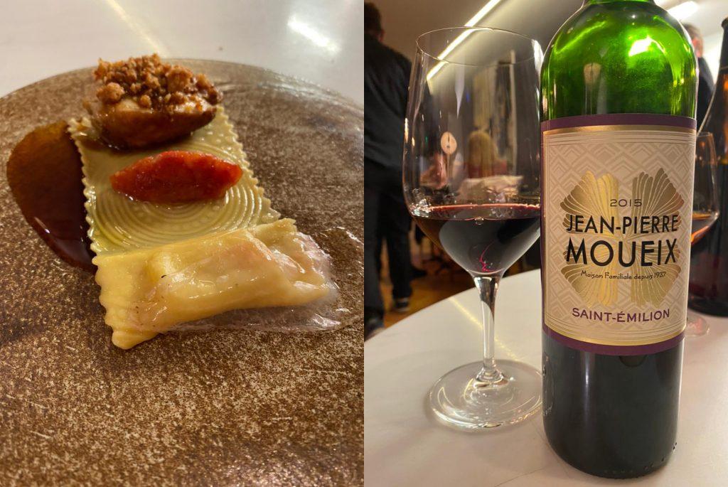 Η Φτερούγα Κόκορα του chef Αλέξανδρου Τσιοτίνη και κρασί Saint Emilion του Jean-Pierre Moueix